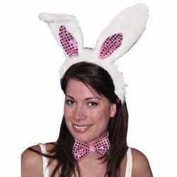 Diadeem konijn/haas verkleedset oren volwassenen