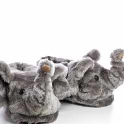Dieren olifant pantoffels/sloffen kinderen maat 34/36