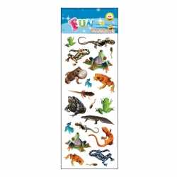 Dieren stickervel reptielen