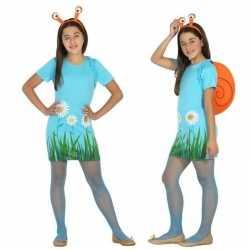 Dieren verkleed jurk/jurkje slak/slakken meisjes