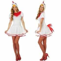Dieren verkleed jurkje kip/hen dames
