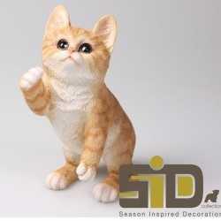 Dierenbeeld kat/poes rood 24