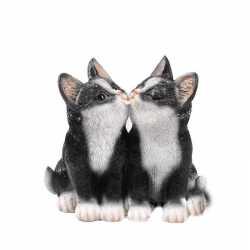 Dierenbeeld katjes/poesjes zwart 20