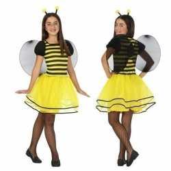 Dierenpak bij/bijen verkleed jurk/jurkje meisjes