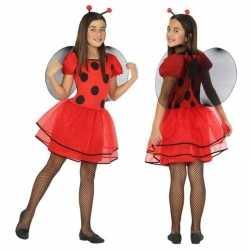 Dierenpak lieveheersbeestje verkleed jurk/jurkje meisjes
