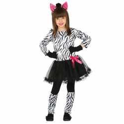 Dierenpak zebra verkleedjurkje meisjes