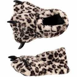 Dierenpoot sloffen luipaard dames