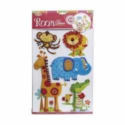 Dierentuin stickers kamer/raamdecoratie 3d kinderen