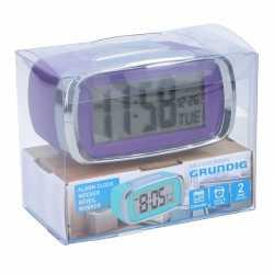 Digitale wekker/alarm klok paars