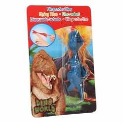 Dino world mini dino katapult t rex blauw