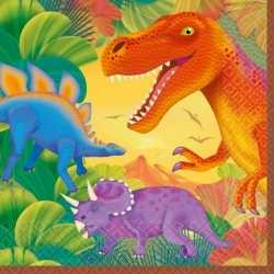 Dinosaurus feest servetten 16 stuks