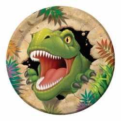 Dinosaurus feestbordjes 8 stuks