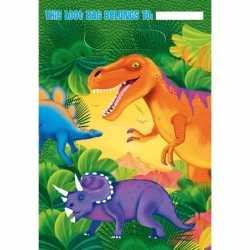 Dinosaurus feestzakjes 16 stuks