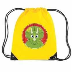 Dinosaurus rugtas / gymtas geel kinderen