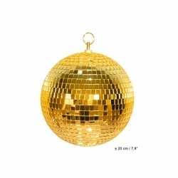 Disco spiegel bal goud 20