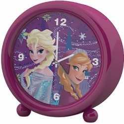 Disney frozen kinder wekker/klokje roze 11,5 bij 12