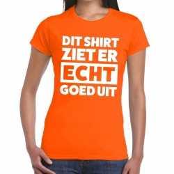 Dit shirt ziet er echt goed uit t shirt oranje dames