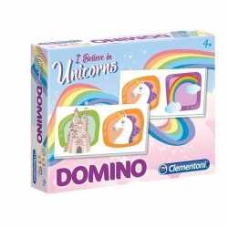 Domino spel eenhoorn kinderen