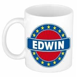 Edwin naam koffie mok / beker 300 ml