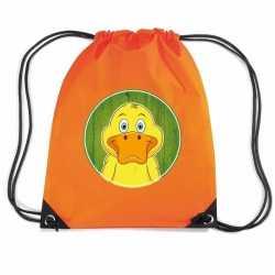 Eenden rugtas / gymtas oranje kinderen