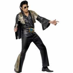 Elvis kostuum zwart/goud