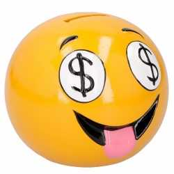 Emoticon dollar ogen spaarpot