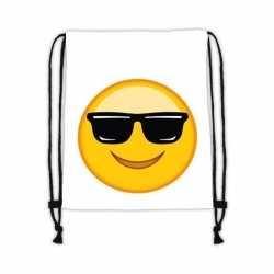 Emoticon gymtasje zonnebril wit