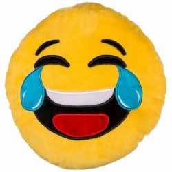 Emoticon kussen lachend 30