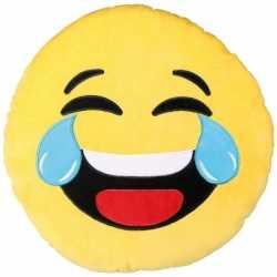 Emoticon kussen lachend 50