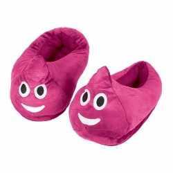 Emoticon sloffen roze drol kinderen