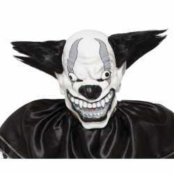 Enge zwarte clown masker volwassenen