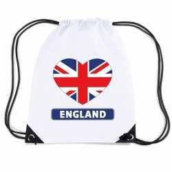 Engeland hart vlag nylon rugzak wit