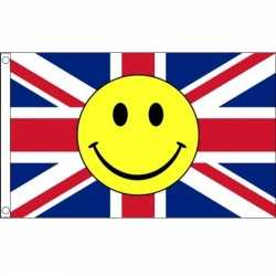 Engelse vlag smiley 90 bij 150