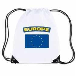 Europa nylon rugzak wit europese vlag