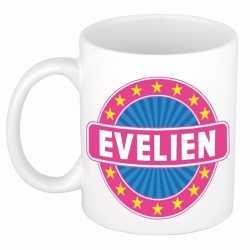 Evelien naam koffie mok / beker 300 ml