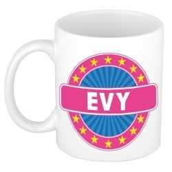 Evy naam koffie mok / beker 300 ml