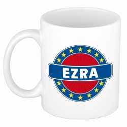 Ezra naam koffie mok / beker 300 ml