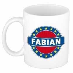 Fabian naam koffie mok / beker 300 ml