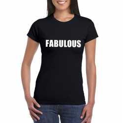 Fabulous tekst t shirt zwart dames