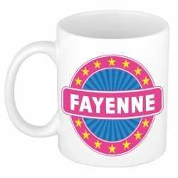 Fayenne naam koffie mok / beker 300 ml