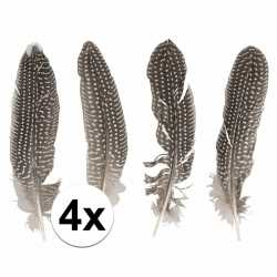 Fazanten veren 4 stuks