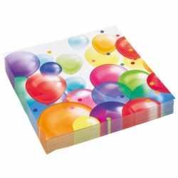 Feest servetten ballonnenopdruk papier 33cm 20st