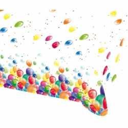 Feest tafelkleed ballonnen opdruk plastic 135x200cm