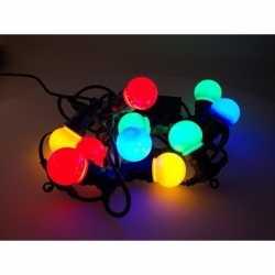 Feest verlichting 10 gekleurde bol ledlampjes