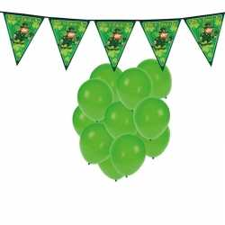 Feestartikelen st. patricks day incl. ballonnen feestslinger