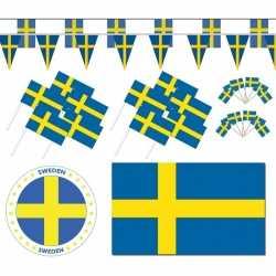 Feestartikelen zweden versiering pakket xl