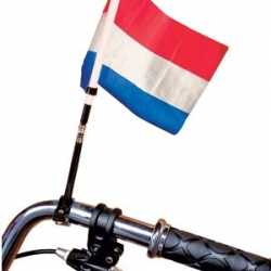 Fiets vlag rood/wit/blauw