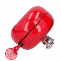 Fietsbel van metaal in het rood