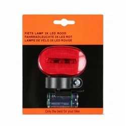 Fietsverlichting led achterlicht incl batterijen