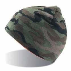 Fijngebreide camouflage muts volwassenen